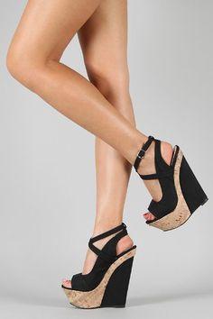 0d9b708e76ff £42.00 Shoehorne Peace-3 - Womens Black Criss cross Ankle Strap Open Toe  High