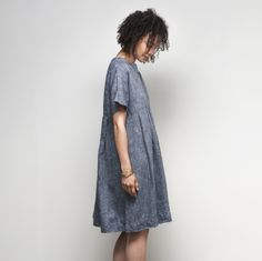 Pico Dress: Linen Denim