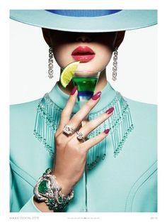 """~""""D'ÉTÉ COCKTAIL"""" Vogue Paris   The House of Beccaria#"""