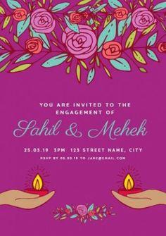 35 Best Engagement Invitation Template Images Engagement