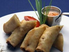 Get Chorizo Cheese Taquito with Tomatillo Mint Salsa Recipe from Cooking Channel