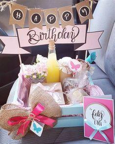 Cute Birthday Gift, Birthday Box, Diy Gift Box, Diy Gifts, Homemade Baby Shower Favors, Diwali Gift Hampers, Baby Gift Hampers, Candy Bouquet, Birthday Balloons