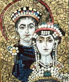 """Justinian and Theodora - Bing Images They ruled jointly as emperor and empress.When he was crowned in 527, his wife, Theodora, was named his co-regent, amid much opposition but one contemporary wrote that she was """"superior in intelligence to any man."""""""