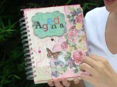 Agenda personalizada scrapbook