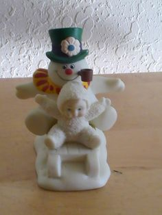 "Dept. 56 Snowbabies ""Fun With Frosty The Snowman"" Figurine"