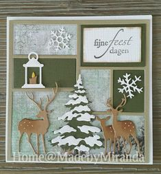 Christmas Paper Crafts, Christmas Presents, Christmas Ornaments, Xmas Cards, Diy Cards, Greeting Cards, Marianne Design, Scrapbook, Stamping Up