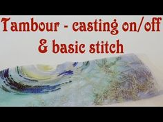 Tambour embroidery tutorial - casting on and off, basic stitch. Tambour embroidery for beginners. Tambour Beading, Tambour Embroidery, Ribbon Embroidery, Embroidery Stitches, Hardanger Embroidery, Crazy Quilting, Beading Techniques, Embroidery Techniques, Hand Embroidery Designs