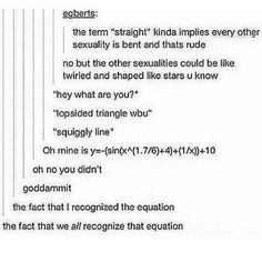 Comment if you recognize the equation