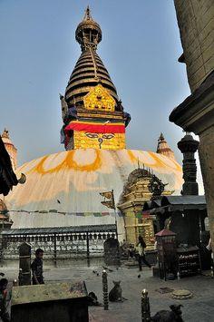 Swayambhunath (also known as Monkey Temple) - Kathmandu, Nepal