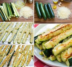 Garlic Lemon Parmesan Oven Baked Zucchinis | The WHOot