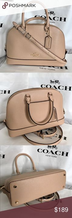 Coach Purse 100% Authentic Coach Purse Crossbody, brand new with tag!.color Beechwood/Nude. Coach Bags Crossbody Bags