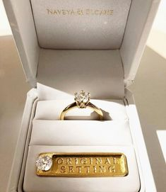 The Original Setting, you choose the diamond she designs the ring! Naveya And Sloane, Dream Engagement Rings, Fine Jewelry, Jewellery, Precious Metals, Gold Watch, Wedding Rings, Gemstones, Photo And Video