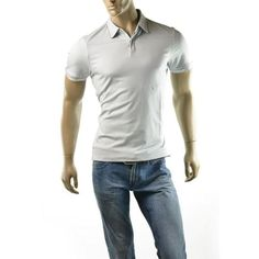 CALVIN KLEIN Mens Liquid Cotton Short Sleeve Polo