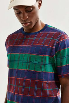 Stussy Plaid Tee - Urban Outfitters