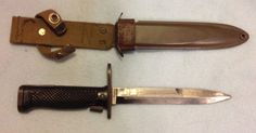 US M6 bayonet Imperial with M8A1 scabbard