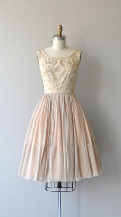 Flowering Quince dress vintage 1960s dress silk by DearGolden