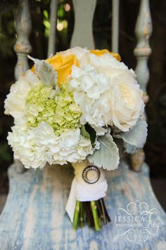 yellow-grey-green-wedding-23, white yellow and green bridal bouquet