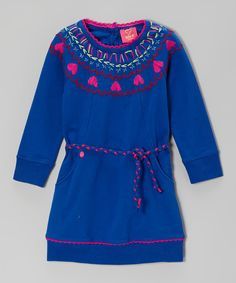 Take a look at this Blue Heart Dress - Toddler & Girls on zulily today!