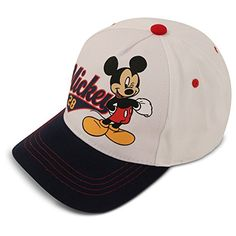 Disney Boys  Mickey Mouse 28 Logo Cotton Baseball Cap  e86fb34f4974