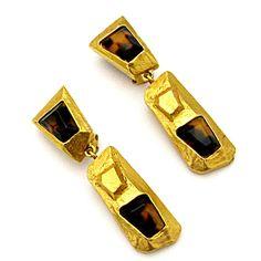CHRISTIAN LACROIX, vintage 80s clip earrings