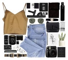 """""""i'm hoping it's not too late"""" by spiriva ❤ liked on Polyvore featuring Essie, Erika Cavallini Semi-Couture, Ray-Ban, H&M, Lalique, Maison Bereto, B-Low the Belt, Fujifilm, NARS Cosmetics and Rolex"""