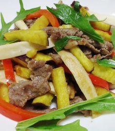 牛肉とさつまいもの中華風炒め