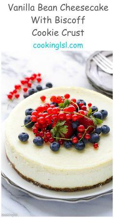 Vanilla-Bean-Cheesecake-With-Bischoff-Cookie-Crust