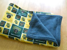 Soft baby blanket Baylor Bears forest green by HomemakersHelper, $21.99