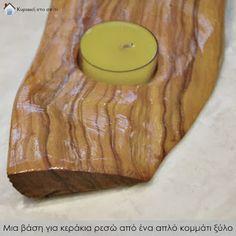Κυριακή στο σπίτι: Μια βάση για κεράκια ρεσώ από ένα απλό κομμάτι ξύλο [Project 132]