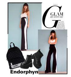 """Endorphyn"" by fahreta1992 ❤ liked on Polyvore featuring moda, Moschino e T.U.K."