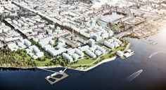 Aerial View. Image © KCAP Architects & Planner