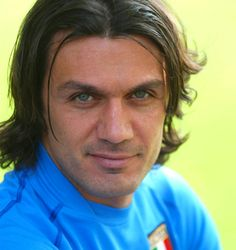 Middle Part Curtains Hairstyle Guide: How To Style, Pictures, Products and Paolo Maldini, Middle Part Hairstyles, Ac Milan, Attractive Men, Dream Team, Football Players, Handsome, Parlour, People