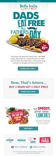 Fathers Day Voucher Email Design