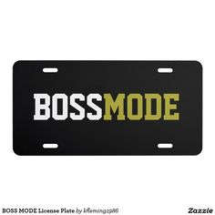 BOSS MODE License Plate