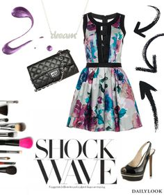 Shock Wave feat. the Keepsake Day Dream Believe Dress. See the look here: http://stylesets.dailylook.com/sets/150544