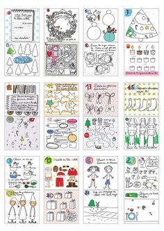 23 Clever DIY Christmas Decoration Ideas By Crafty Panda Diy Calendar, Calendar 2020, Advent Calendar, Christmas Holidays, Xmas, French Songs, Theme Noel, Student Gifts, Holidays And Events
