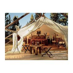 Luxury tents are making us completely reconsider how we holiday. They're honestly gorgeous. Camping Glamping, Camping Life, Tree House Deck, Tent Living, Outdoor Living, Wall Tent, Luxury Tents, Travel And Tourism, Vacation Travel