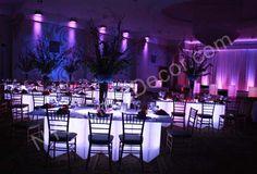 white illuminated table