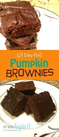 21 Day Fix Approved Pumpkin Brownies