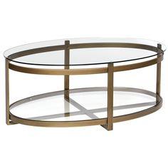 retro glitz glass metal coffee table