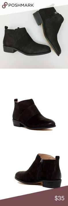 SUSINA Black Booties Simple round toe black booties • Strap detail • New without tag • No defects Susina Shoes Ankle Boots & Booties