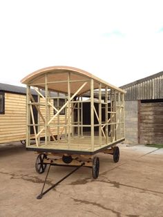 shepherd hut in the making