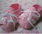 chuteira baby Menina rosa bebê/branco