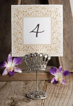 Crystal Crown Name Card Holders $6 each / 10 for $5 each