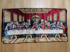 Jesus Last Supper  wall tapestry blue