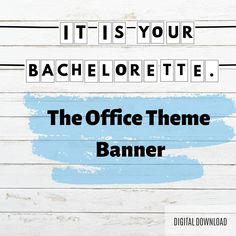 PRINTABLE Bachelorette The Office Theme Banner,Sign, Party Decorations, Hen Party, Bachelorette Party Bachelorette Decorations, Birthday Party Decorations, Bachelorette Drinking Games, Office Themes, Bridal Shower Party, Printer Paper, Friends Tv Show, Get The Party Started, The Office