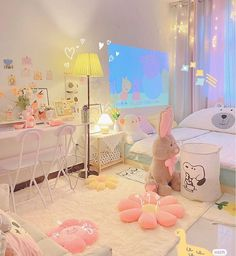 Room Design Bedroom, Room Ideas Bedroom, Small Room Bedroom, Bedroom Decor, Cute Room Ideas, Cute Room Decor, Pastel Room Decor, Pastel Bedroom, Study Room Decor