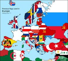 Previous used flags in Europe
