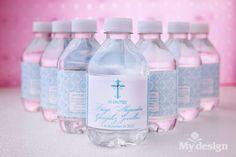 Botellas de agua para bautizo -  http://tiendamydesign.com/panama/botellas-de-agua-para-bautizo
