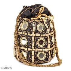 Pouches & Potlis Stylish Women's Potli  Material: Silk Pattern: Embroidered Multipack: 1 Sizes:  Free Size (Width Size: 9 cm) Country of Origin: India Sizes Available: Free Size *Proof of Safe Delivery! Click to know on Safety Standards of Delivery Partners- https://ltl.sh/y_nZrAV3  Catalog Rating: ★4.2 (1718)  Catalog Name: Elite Classy Women Pouches & Potlis CatalogID_1019739 C73-SC1077 Code: 312-6410710-